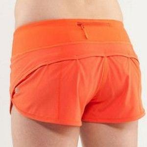 Orange Lululemon Shorts
